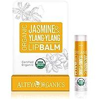 Alteya Organic Bálsamo Labial de Jazmín y Ylang-Ylang 5 gr – USDA Certificado Orgánico Producto para Cuidado Labial Basado en Aceites Esenciales Hidratantes y Mantequillas Botánicas Nutritivas