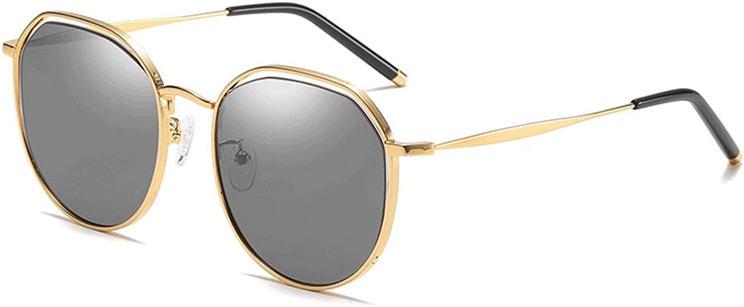 Sunglasses Outdoor Sunglasses Polarized Sports Aviator UV Predection for Men Or Women Suitable for Pilot Flight (color   gold, Size   Casual Size)