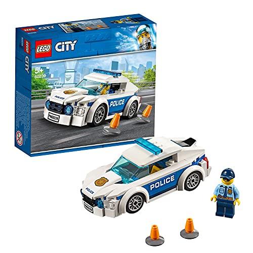 LEGO 60239 City Coche Patrulla de la Policía, Juguete de Construcción para Niños a Partir de 5 años con Mini Figura de Agente de Policía