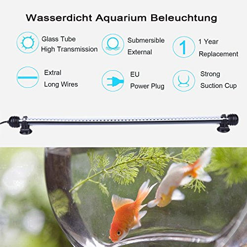 Tingkam® 48CM 57LED Weiß Wasserdicht IP68 Fische Licht Aquarium Light Aquariumleuchte Unterwasser - 2