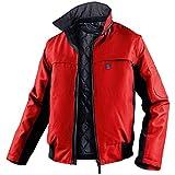 KÜBLER WEATHER 3-in-1 Pilotenjacke (mit Steppweste) rot, Größe 4XL, Unisex-3-in-1 Pilotenjacke (mit Stepp-Innenweste) aus Mischgewebe, funktionelle 3-in-1 Pilotenjacke (mit Steppweste) von KÜBLER Workwear