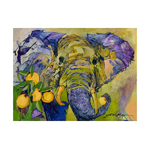 Trademark Fine Art Elephant and Oranges by Yuval Wolfson, 18x24, Multiple