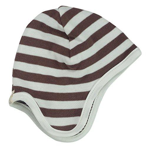 Pigeon-organics For Kids Bonnet Stripes Marron 0-5 m
