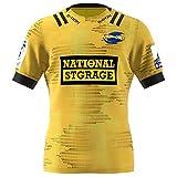 Maillots de Rugby pour Hommes, Logo brodé 2020 Nouvelle Saison Hurricanes Home Rugby Jerseys, vêtements de Supporters de Rugby (Tous de Taille Adulte S-XXXL)-XL