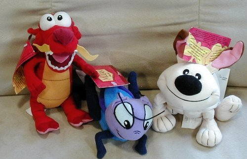 Disney's Set Mulan's Cricket, Mushu and Little Brother by Disney