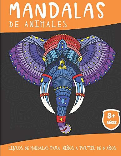 Mandalas de Animales: Libros de mandalas para niños a partir de 8 años - 50 mandalas de animales para colorear - Idea de regalo Zen