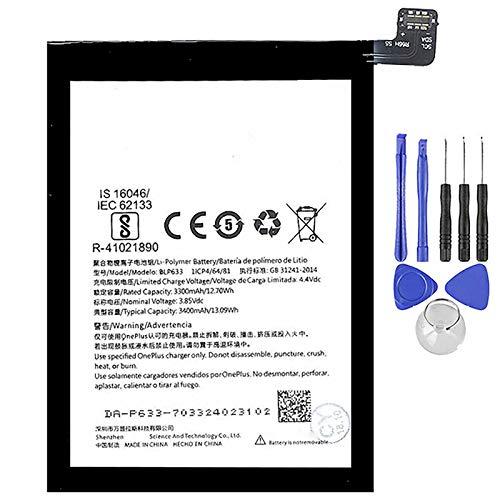 Ellenne Batteria Compatibile con ONEPLUS 1+ BLP633 per One Plus 3T 3400MAH con Kit SMONTAGGIO Incluso