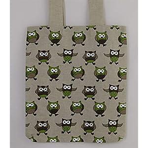 Einzigartige tägliche Einkaufstasche Schulter handgemachte Tasche mit Eule handmade
