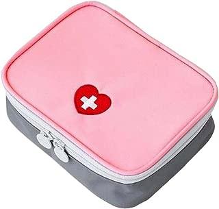 Empty First Aid Bag Medicine Organizer/Pouch - Pink