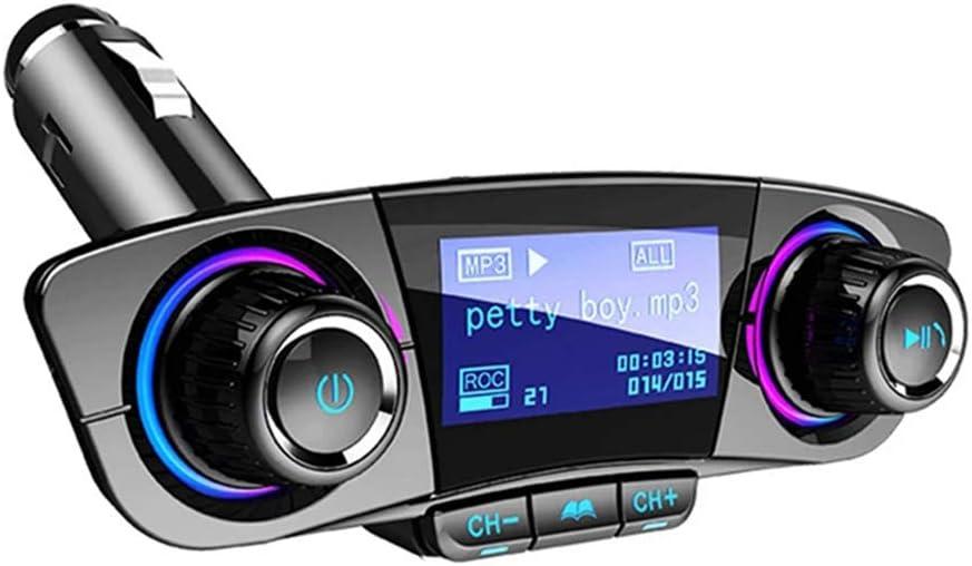 Kit Bluetooth InaláMbrico Manos Libres Para Coche Transmisor De ModulacióN De Frecuencia Reproductor De Audio Led Cargador USB Dual Reproductor De MP3