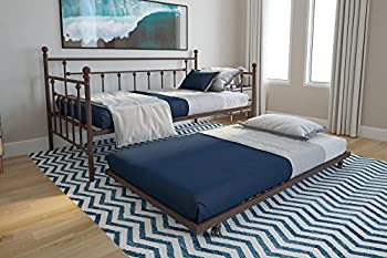 DHP Manila Metal Framed Daybed with Trundle Twin - Bronze