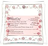The Pampered Chef Pink Daisy Dessert Plates (Set of 4)...