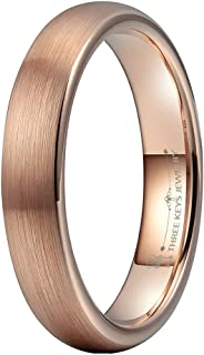 Mens Women Tungsten Wedding Rings 2mm 4mm 6mm 8mm Black Silver Rose Gold Brushed Wedding Band Engagement Bands