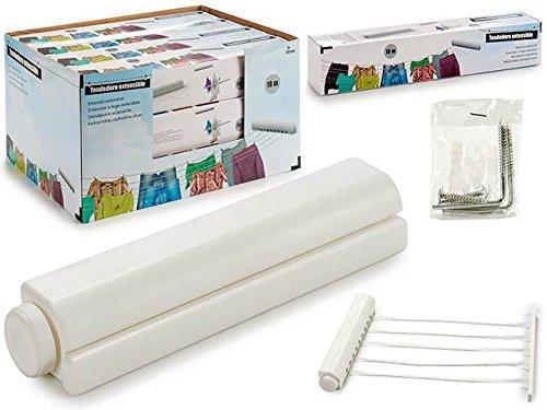 Dream Hogar Tendedero Extensible 18m 5 Cuerdas Blanc
