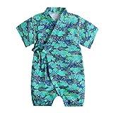Baby Kimono Robe Romper Organic Cotton Infant Comfy Loose Japanese Pajamas (3-9 Months, 31)