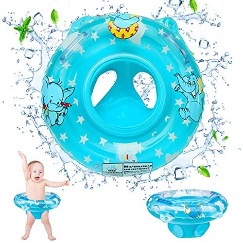 Flotador Bebe, Anillo de Natación Inflable, Mejor Flotador Bebe Piscina, Chaleco Flotador Bebe Braguita Flotador Antivuelco Bebe para Bebé 6-36 Meses