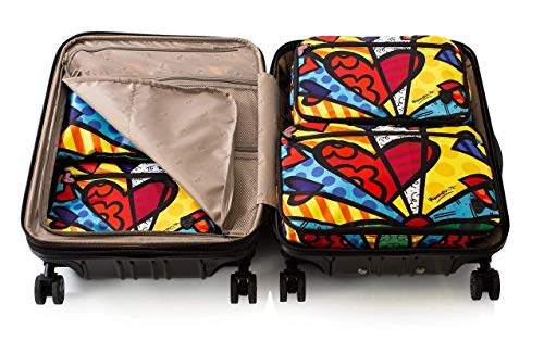 Romero Britto 5 Pieces Packing Cube Set (New Day)