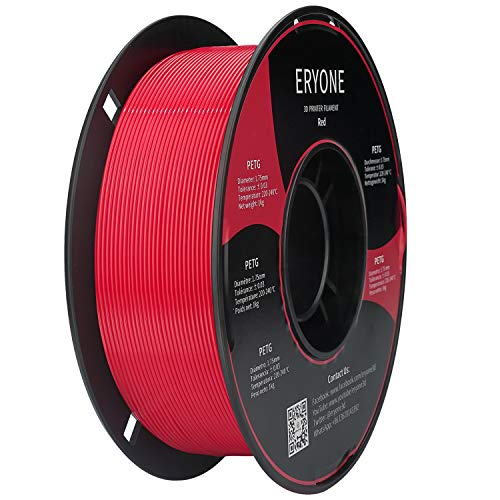 Filamento ERYONE PETG, Filamento PETG ad Alta Resistenza, Filamento Stampante 3D per Stampa 3D FDM 1 kg Rosso