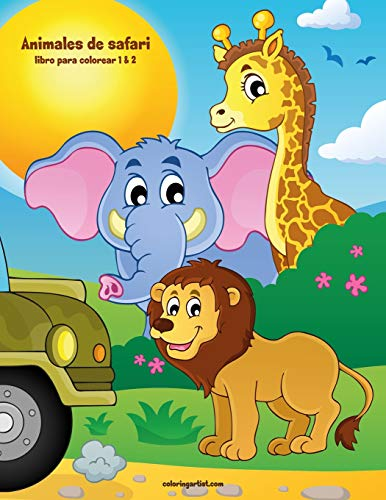 Animales de safari libro para colorear 1 & 2