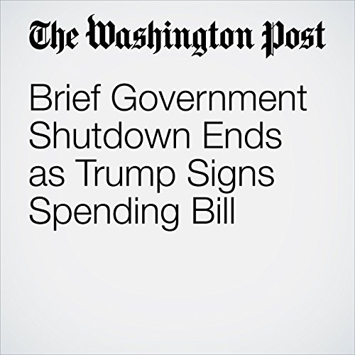 Brief Government Shutdown Ends as Trump Signs Spending Bill copertina