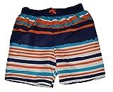 Healthtex Toddler Boys Orange Opulence Stipes Swim Short Trunk - 4T