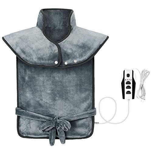 Yolife Almohadilla térmica eléctrica para espalda, hombro, dolor de cuello, calentador de...