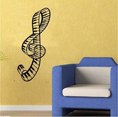 Zfkdsd Home Decoration Wall Paper Amp Kunst Viny Abnehmbare Aufkleber Music Keyboard 40 * 100 Cm