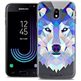 Caseink Coque pour Samsung Galaxy J3 2017 J320 (5) Housse Etui [Crystal Gel HD Polygon Series Animal - Souple - Ultra Fin -...