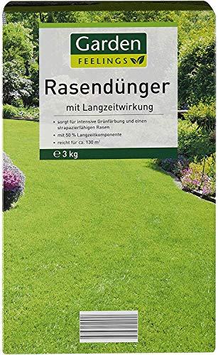 Rasendünger Langzeitwirkung Rasen Dünger 3 Kg (Lieferung 1x 3 kg) für ca. 130qm