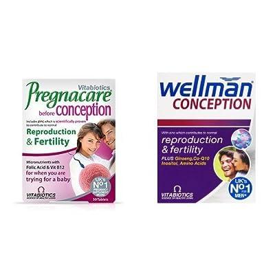 Pregnacare Conception, 30 Tablets and Wellman Conception, 30 Tablets Bundle