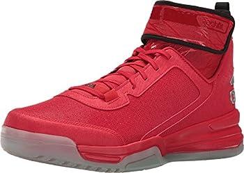 adidas Men s Dual Threat BB Basketball Shoes Scarlet/Black/White  8