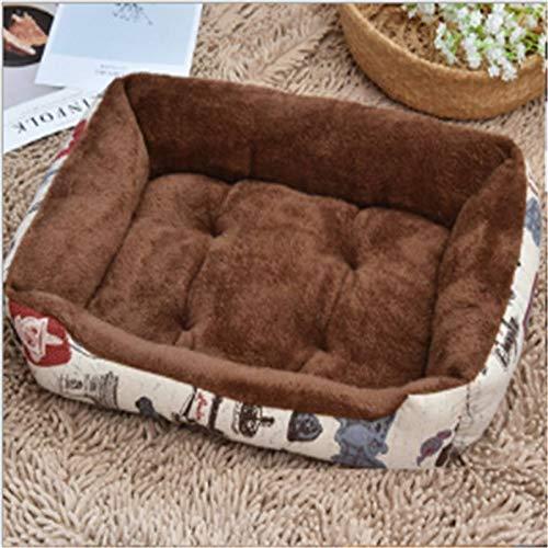 Colchón de Perro Gran Perro Mascota Cama Sofá Espesado Warm Camas for Perros for Perros Grandes Pitbull Mats Gato Sofás Animales Productos (Color : 01, Size : 50X35CM)