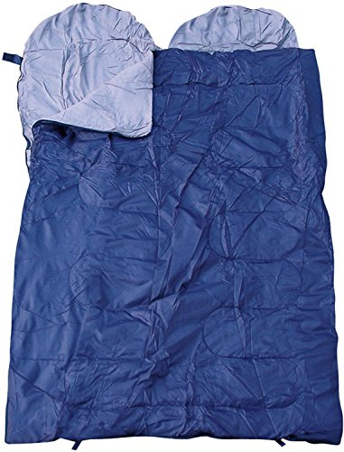 Unbekannt Sac de Couchage Double Spacieuse, Sac de Couchage pour Deux Personnes, différentes Couleurs - Bleu