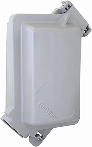 discount Sigma Electric 14438 1-Gang 3-1/8-inch Deep Vertical sale Metal sale While in Use Cover outlet online sale