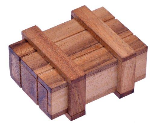 LOGOPLAY Schatztruhe Jumbo - Schatzkiste - Zauberkiste - Trickkiste - Denkspiel - Knobelspiel - Geduldspiel - Logikspiel aus Holz