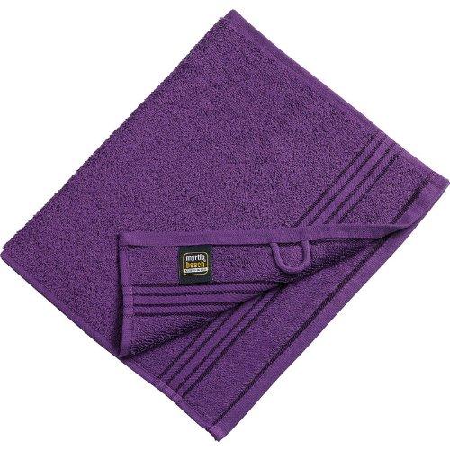 Myrtle Beach - lot 3 serviettes de toilette invité - violet pourpre - 30 x 50 cm - MB420