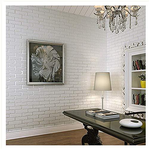 Wall Art Lightning Mural Wall Tonen Midnight Paper Driedimensionale Baksteen Wit Baksteen Patroon Achtergrond Muur Papier 0.53 * 5m 4