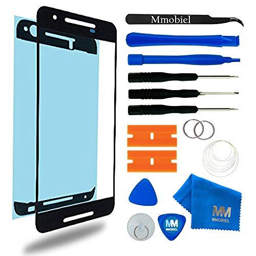 MMOBIEL Front Glas Reparatur Set kompatibel mit LG Nexus 5X H790 G791 H795 (Schwarz) Display mit Werkzeug-Set