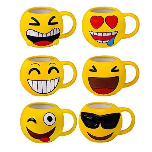 Lote de 24 Tazas Originales y Divertidas EMOTICONOS - Tazas para Detalles Originales Invitados de Bodas, Regalos para Comuniones y Cumpleaños Infantiles