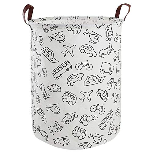 ZZNLYY Foldable Laundry Basket Gray 40 * 50 cm Laundry Basket Dirty Clothes Storage Basket Barrel Round Storage Suitable for Family Storage Children's Room Laundry Room