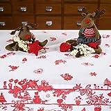 Giovanni Dolcinotti Christmas Collection |Tovaglia Natalizia Rossa Decorazioni Natale 12 posti, 140x280 cm Made in Italy