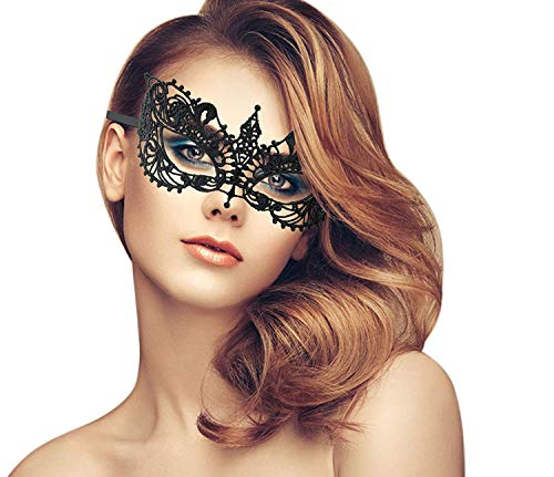 duoduodesign Exquisite Lace Masquerade Mask (Black/Venetian/Soft Version)