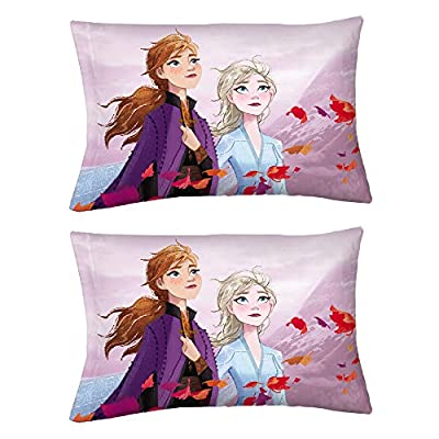 "Franco Kids Bedding Set of 2 Super Soft Microfiber Reversible Pillowcase, 20"" x 30"", Disney Frozen 2"