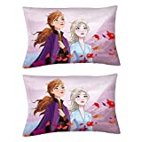 DISNEY FROZEN 2 DESIGN: Bring the magic of Frozen 2 to your child's bedroom with this set of 2 reversible pillowcases featuring Anna, Elsa, Sven, Kristoff, and of course everyone's favorite snowman Olaf. FUN AND COLORFUL: In cool shades of purple and...