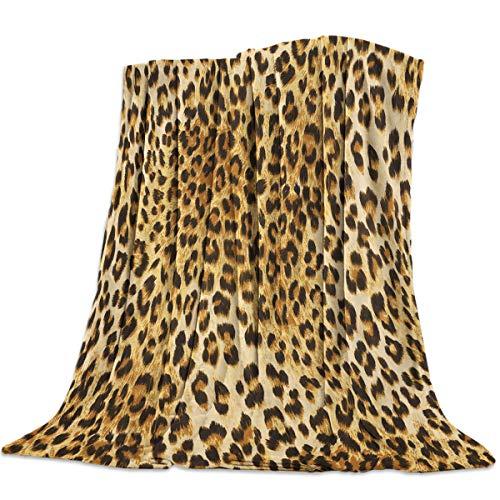 GreaBen Super Soft Bed Blanket Flannel Fleece Throw-Blankets for Women Men,Elegant Leopard Prints,Full Size Blankets for Bedroom Living Room Bed Sofa Couch,49x59inch