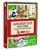 Japanese Cats Note Cards: 12 Blank Note Cards & Envelopes