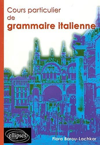 Cours particulier de grammaire italienne