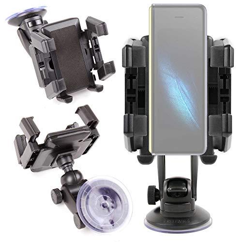 Duragadget Supporto per auto compatibile con smartphone Samsung Galaxy M30s, Samsung Galaxy Fold - Ideale per la griglia di aerazione!