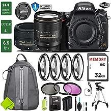 Nikon D750 DSLR Full Frame Camera with 24-120mm VR Lens & Nikon 50mm f/1.8 Lens + 4 Piece Macro Close-Up Set + 3PC Filter Kit (UV FLD CPL) + Tripod + Backpack + 1 Year Extended Warranty