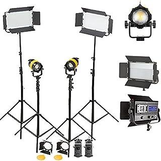 FB800GLEDKIT portátil de Alta CRI Bi-Color de 80W LED Fresnel Spotlight para la luz Video Sony Continua V Montaje LED Fresnel Bowen S-Type Caja de luz FB800GLEDKIT